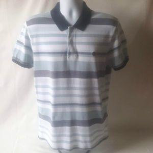 Timberland men's blue/white striped polo shirt